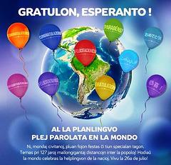 Gratulon, Esperanto!