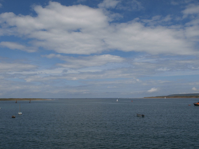 Looking towards the merging of the rivers and the open sea