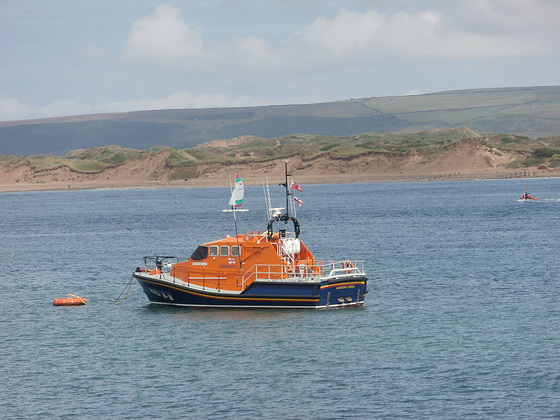 Appledore Lifeboat all ready for an emergency
