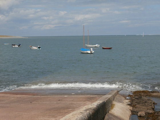 The Lifeboat slipway where the inshore lifeboat is taken down into the sea