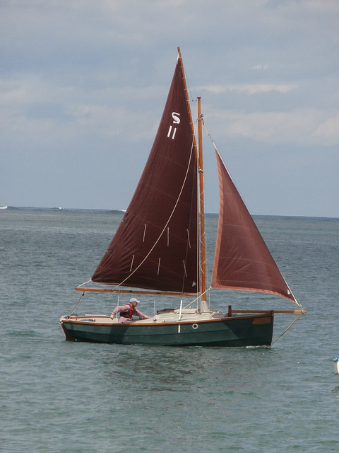 A boat that went on to have loads of problems with his sail