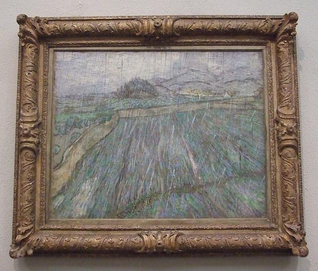 Rain by Van Gogh in the Philadelphia Museum of Art, January 2012