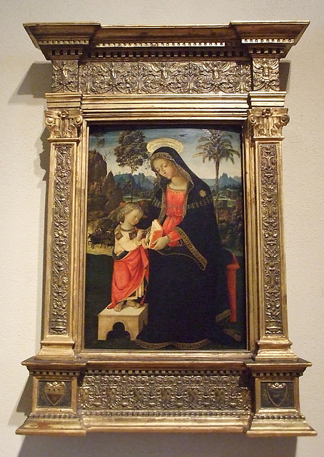 The Virgin Teaching the Christ Child to Read by Pinturicchio in the Philadelphia Museum of Art, August 2009