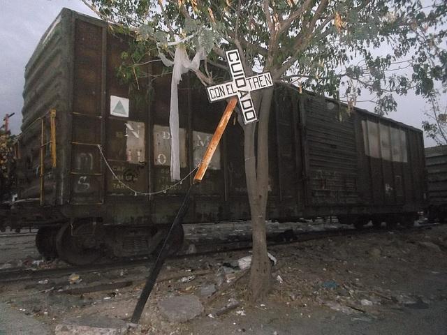 Cuidado con el tren.