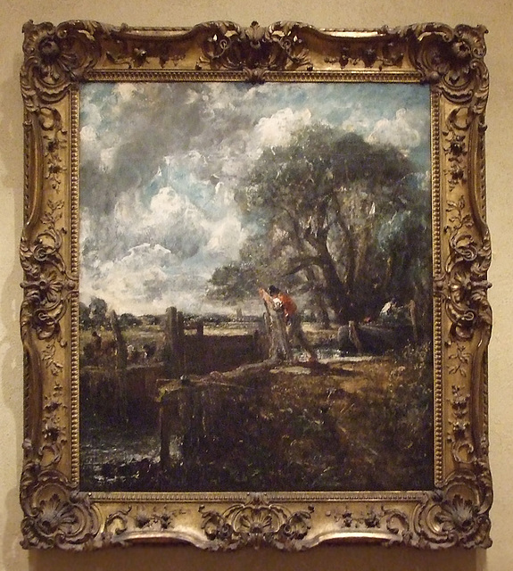 Sketch for A Boat Passing a Lock by Constable in the Philadelphia Museum of Art, August 2009