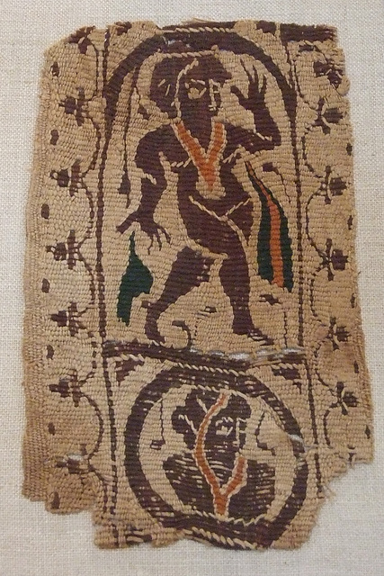 Byzantine Textile Fragment with a Dancing Woman in the Princeton University Art Museum, July 2011