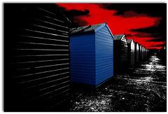 Strandhütten in Hastings