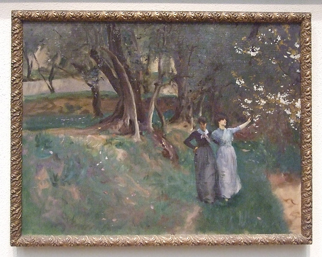 Landscape with Women in the Foreground by Sargent in the Philadelphia Museum of Art, January 2012
