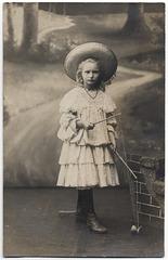 Girl Holding a Diabolo