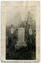 Men Posing at the Lost Children of the Alleghenies Monument (Full Version)