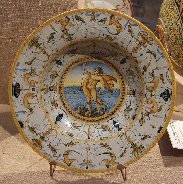 Dish with a Triton in the Philadelphia Museum of Art, January 2012