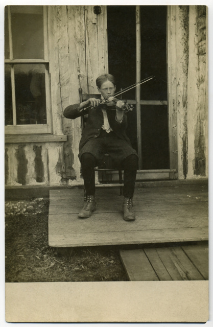 Fiddling on the Porch