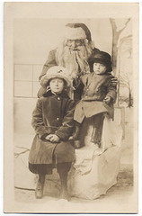 Ethel Posing with Santa and Another Child