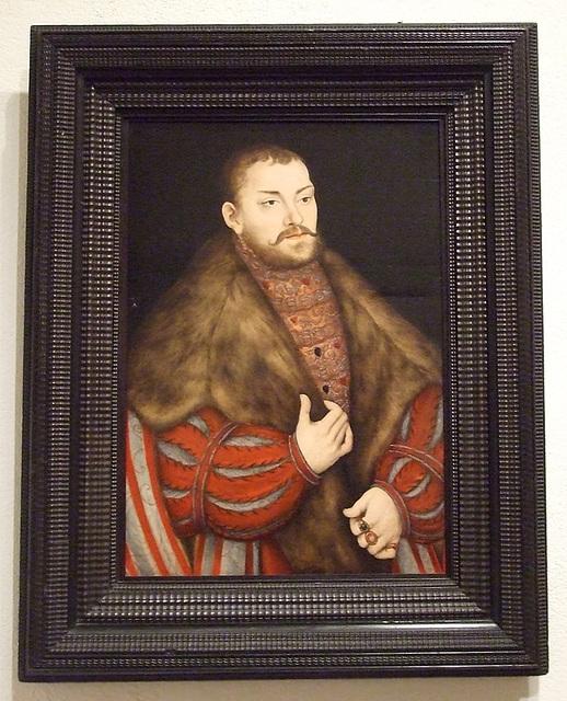 Portrait of Joachim II, Elector of Brandenburg Attributed to Cranach in the Philadelphia Museum of Art, January 2012