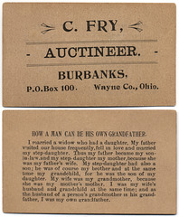 C. Fry, Auctioneer, Burbank, Ohio / How a Man Can Be His Own Grandfather