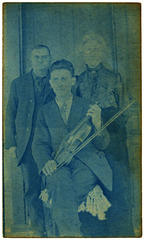 A Fiddler and His Parents