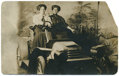 Two Women Driving Along