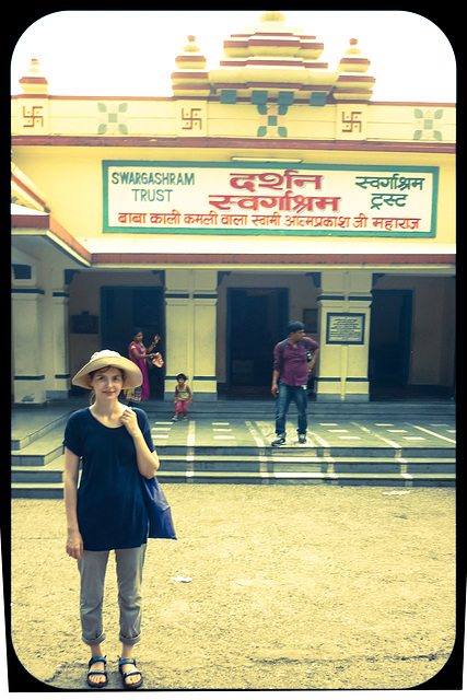 In front of a Temple