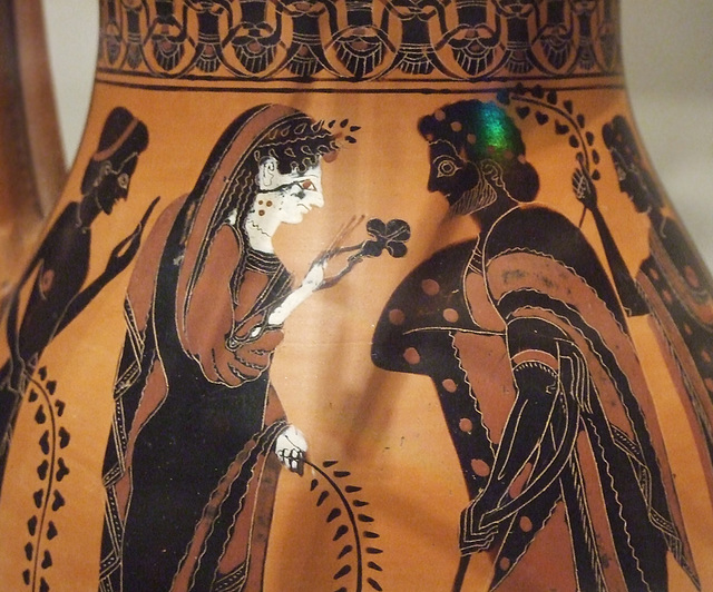 Detail of a Terracotta Olpe Attributed to the Amasis Painter in the Metropolitan Museum of Art, September 2011