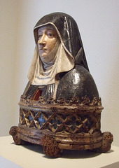 Reliquary Bust of a Benedictine Nun in the Philadelphia Museum of Art, August 2009