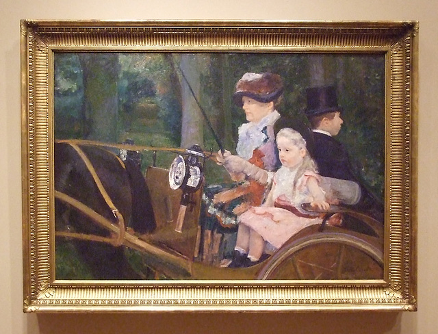 A Woman and Girl Driving by Mary Cassatt in the Philadelphia Museum of Art, August 2009