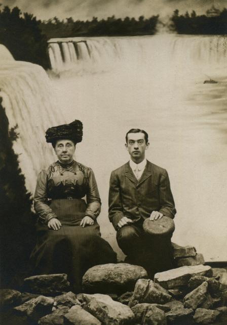 Mother and Son at Niagara Falls