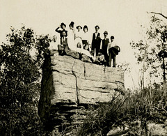 A Small Crowd on a Big Rock (Cropped)