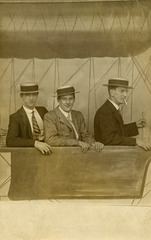 Three Dapper Gents in an Airship
