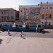 eine Straßenbahnhaltestelle in Winnyzja