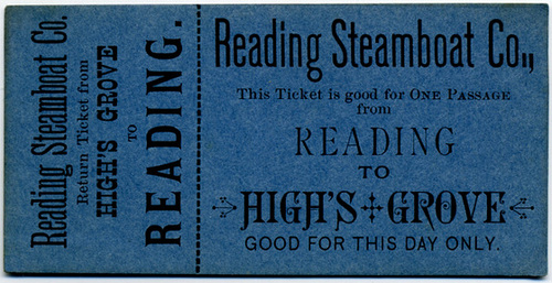 Reading Steamboat Company, Reading to High's Grove