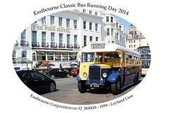 Eastbourne Corporation 12 - JK 8418 - Leyland Lion - Eastbourne - 3.8.2014
