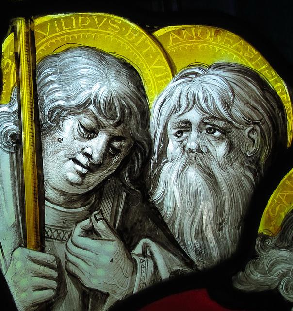 zwei (der 12) Apostel trauern bei der toten Maria