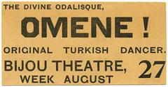 Omene! The Divine Odalisque, Original Turkish Dancer