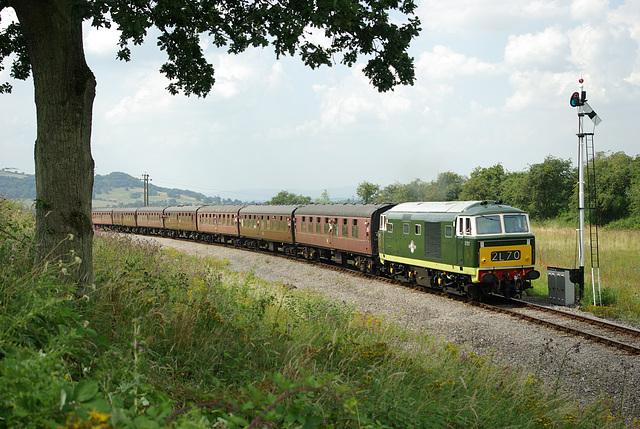 'Hymek' D7017, Greet Tunnel - GWR.