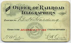 Order of Railroad Telegraphers, 1915