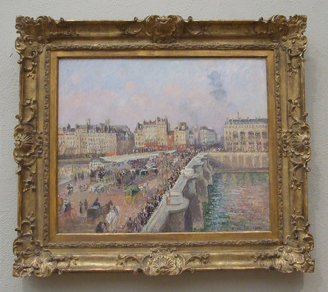 Pont Neuf, Paris: Afternoon Sunshine by Pissarro in the Philadelphia Museum of Art, January 2012