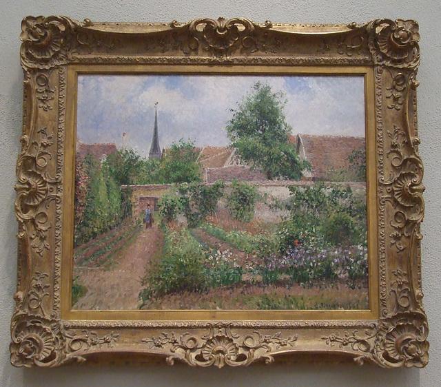 Vegetable Garden, Eratagny: Overcast Morning by Pissarro in the Philadelphia Museum of Art, January 2012