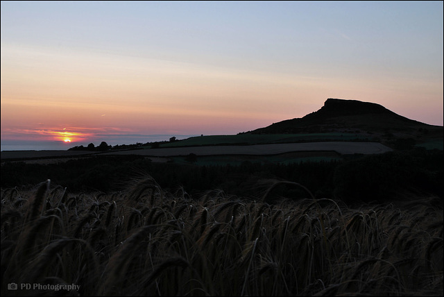 Sunset At Roseberry Topping