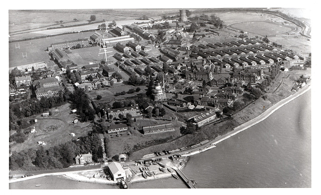 Northern section of Shotley Barracks