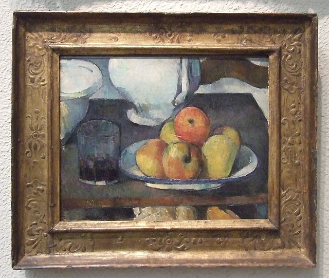 Still Life with Apples and a Glass of Wine by Cezanne in the Philadelphia Museum of Art, January 2012
