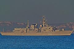 DUKE class Type 23 frigate HMS St Albans (F83) in Weymouth Bay