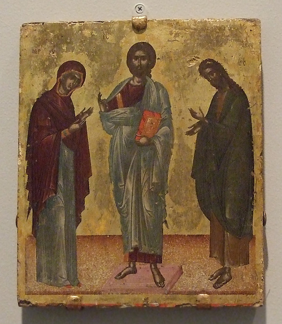 Deeisis: Christ Between Mary and John the Baptist Icon in the Princeton University Art Museum, July 2011