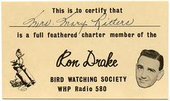 Ron Drake Bird Watching Society