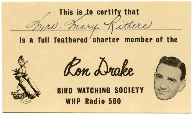 Ron Drake Bird Watching Society