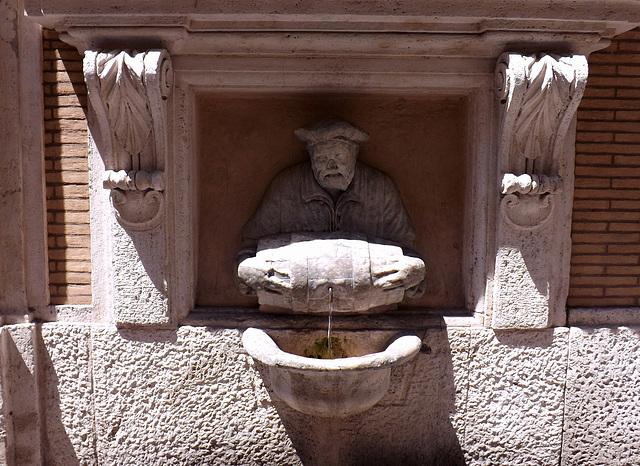 Il Facchino, the Talking Statue off the Via Del Corso in Rome, June 2014