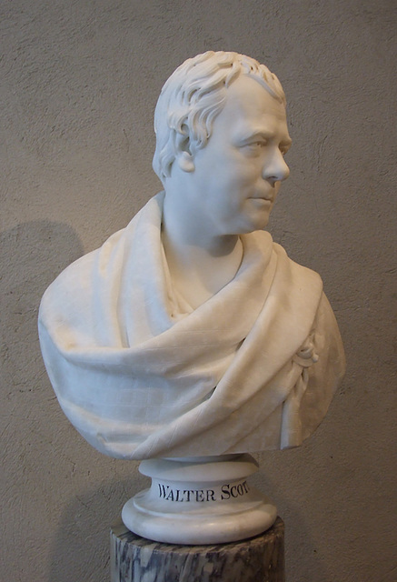 Bust of Sir Walter Scott by Chantrey in the Philadelphia Museum, August 2009