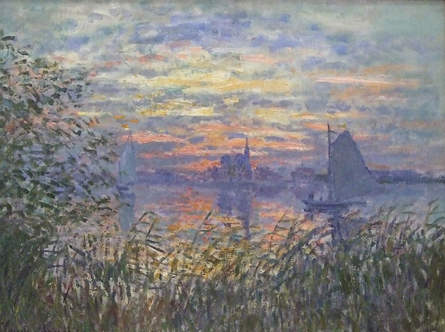 Detail of Marine View with a Sunset by Monet in the Philadelphia Museum of Art, August 2009