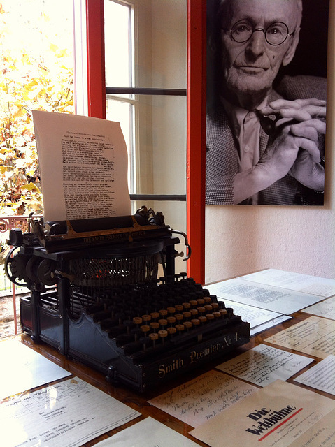 Hermann Hesse's desk. Montagnola, above Lugano.