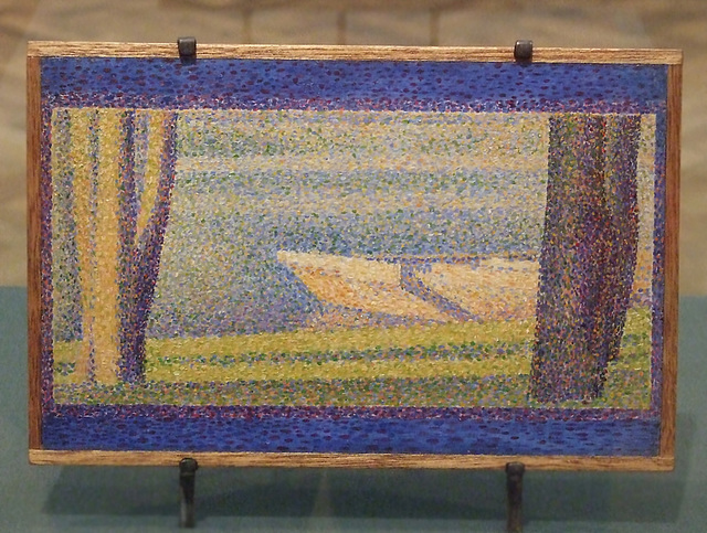 Moored Boats and Trees by Seurat in the Philadelphia Museum of Art, August 2009