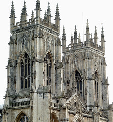 York Minster's twin towers.
